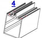 4. Вырубка отверстий в ригеле под саморезы