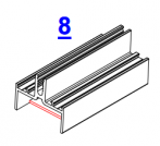 8. Вырубка задней стенки на узком ригеле