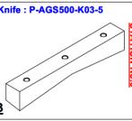 Нож P-AGS500-K03-5