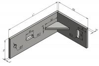 Угловой кронштейн для алюминиевого фасада