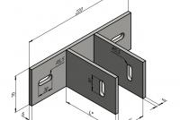 Ветровой кронштейн для алюминиевого фасада