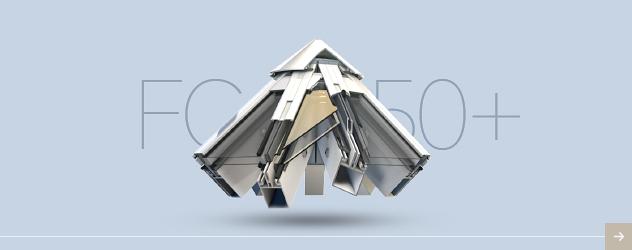 Система алюминиевых профилей для производства фасадов FC50+