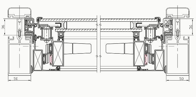 интегрированное параллельно-выдвижное окно